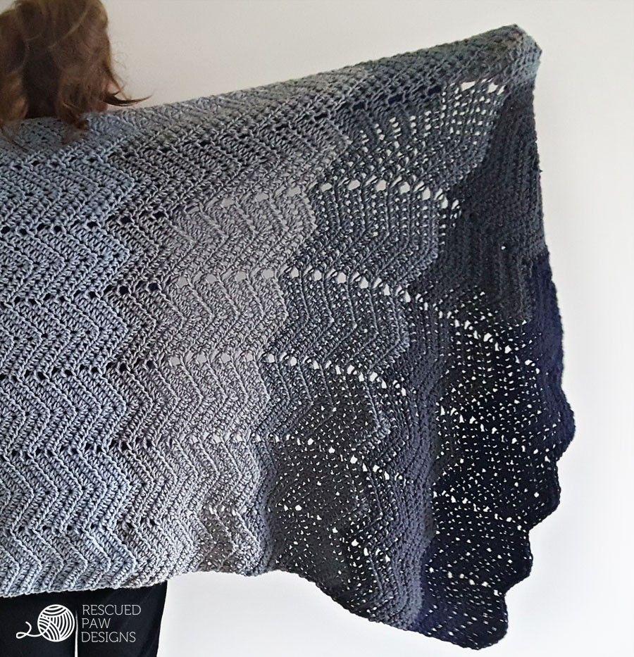 Crochet Kit - The Ombre Ripple Crochet Blanket | Garn und Häkeln