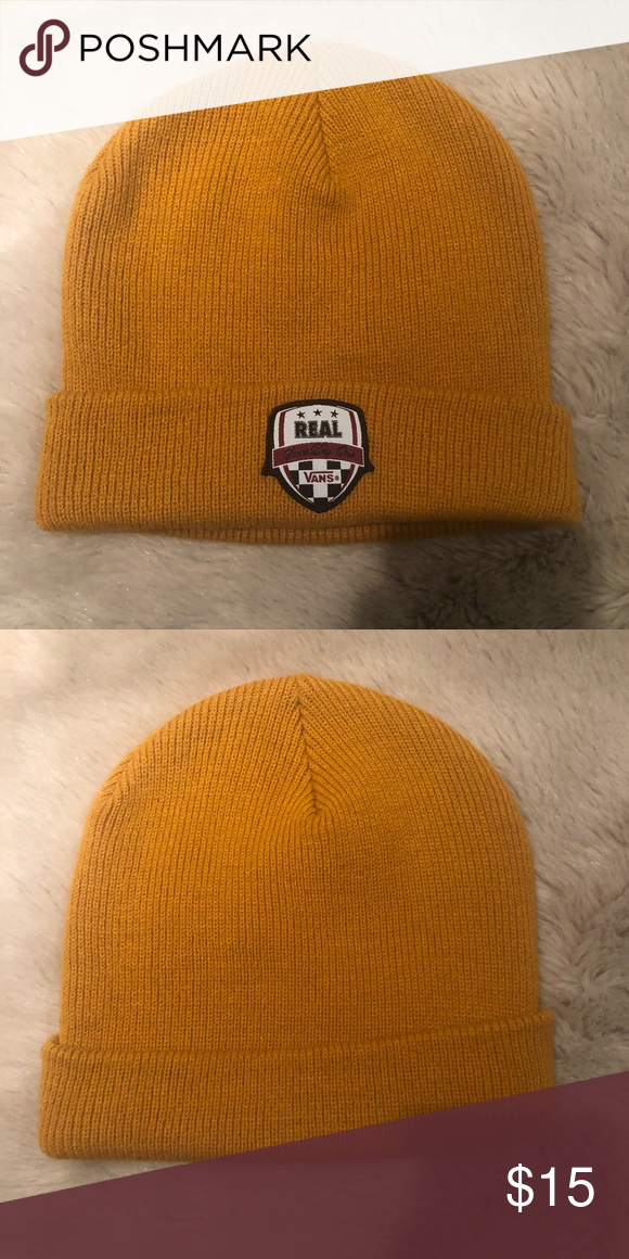 Yellow Orange Vans Beanie Rust Orange Yellow-Colored w  Vans Patch 03b6ab484f4