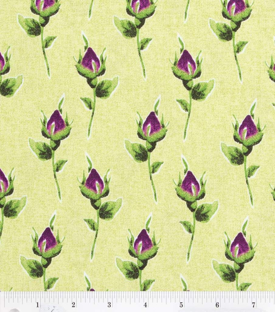 45'' Home Essentials Print Fabric- Roselyn Violet