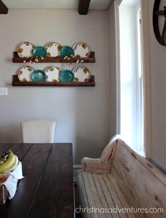 DIY simple shelves