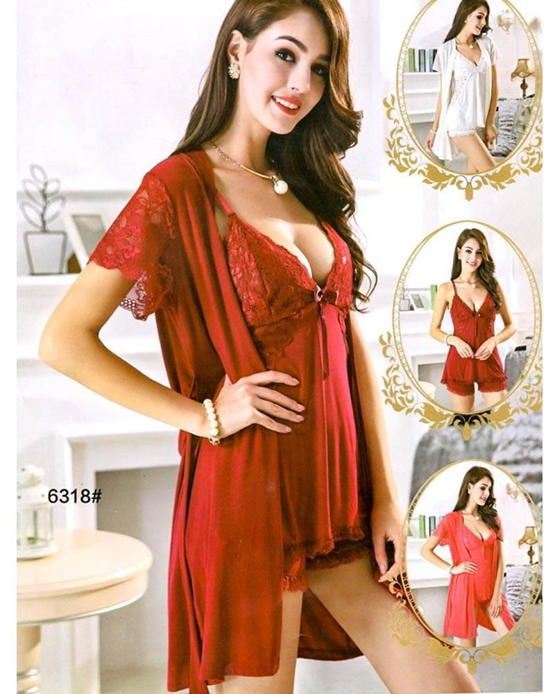c147ad181a Nightwear Online Shopping in Pakistan. Buy 3 Pcs Sexy Short Nighty for Honeymoon  Nighty