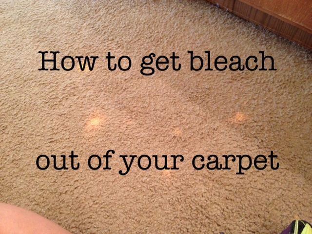 How To Get Rid Of Hair Dye In Carpet