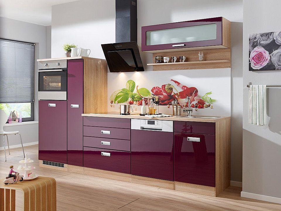 Küchenzeile mit E-Geräten »Fulda, Breite 280 cm« Jetzt bestellen ... | {Küchenzeile bestellen 27}