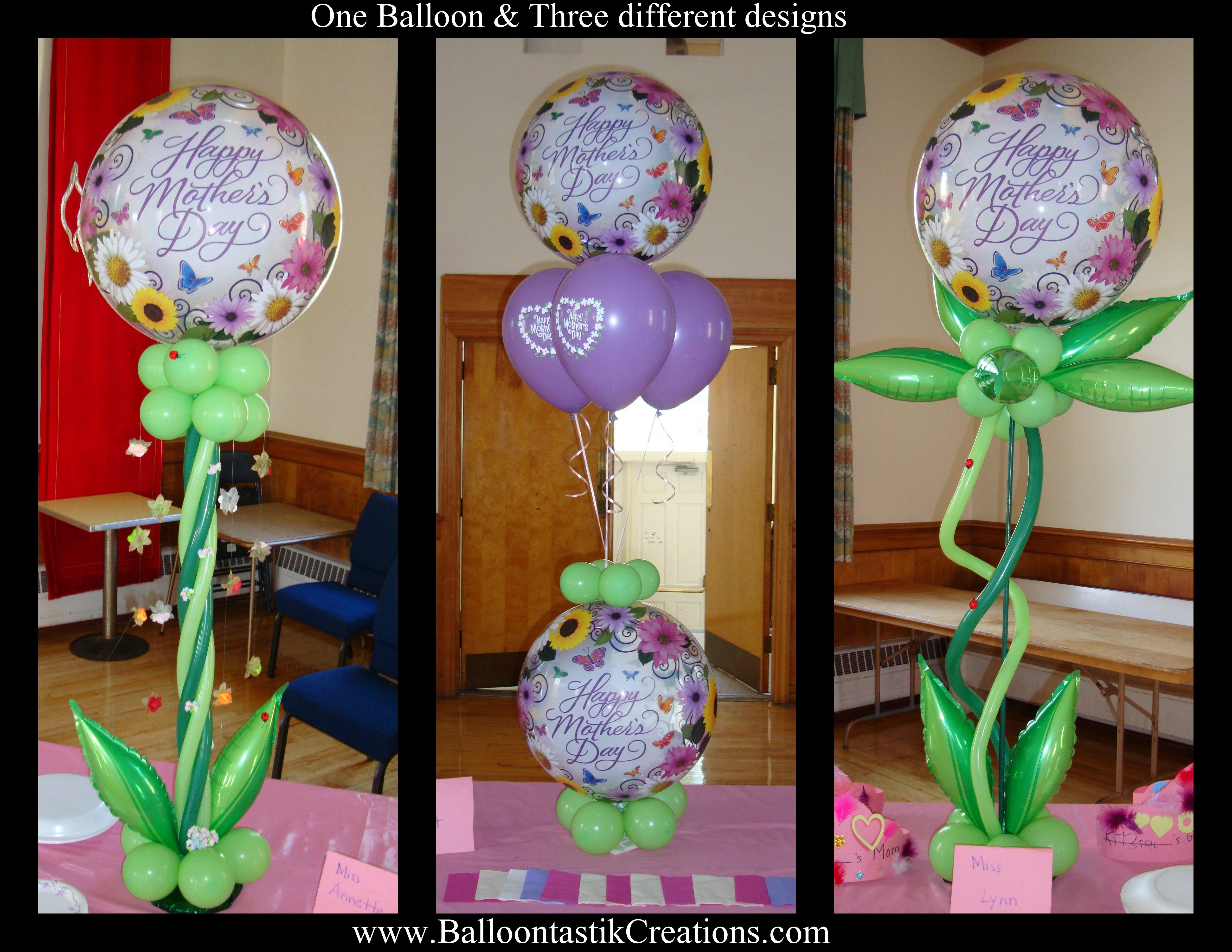 One unique Balloon in a three diffrenet designs...www.BalloontastikCreations.com