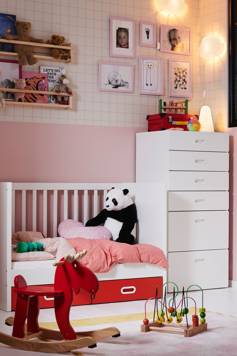 Stuva Fritids Babybett Mit Schubfachern Weiss Ikea