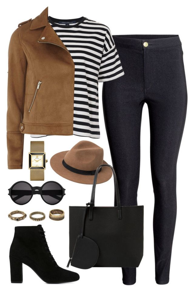 """Untitled #1673"" by elizabethwhitehead ❤ liked on Polyvore featuring H&M, French Connection, Dorothy Perkins, Yves Saint Laurent, Tory Burch, Forever 21 and MANGO"