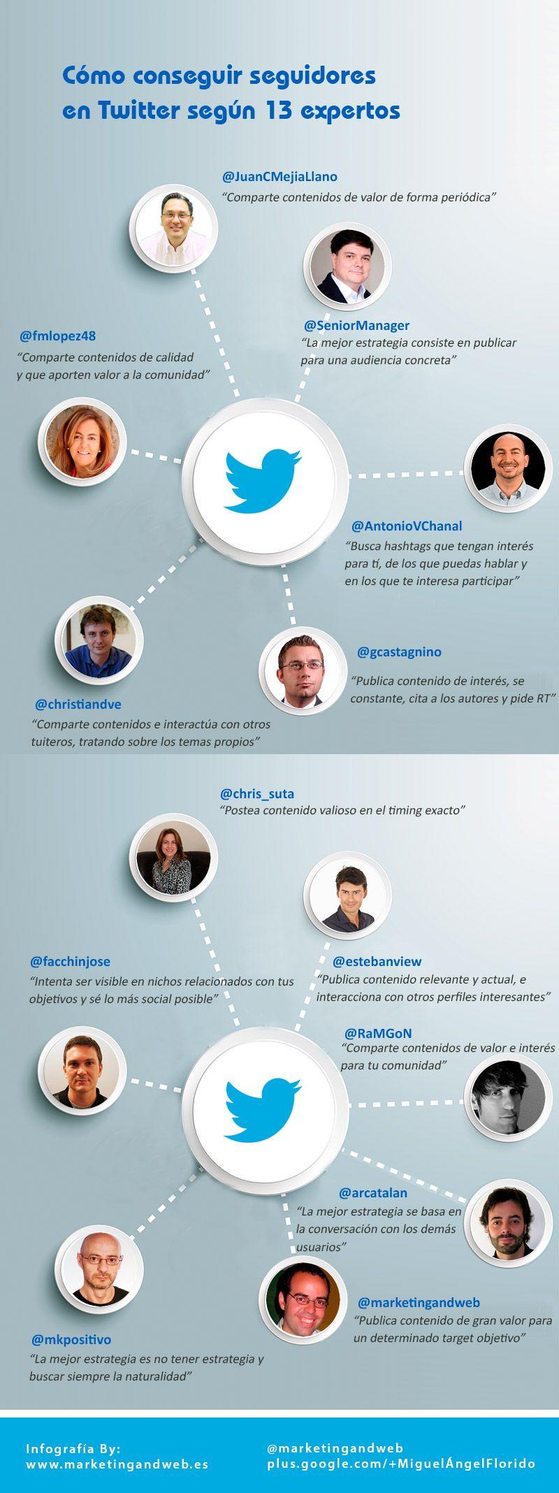 13 Expertos Te Explican Cómo Conseguir Más Seguidores En Twitter Infografia Sociamedia Twitter Socialismo Redes Sociales
