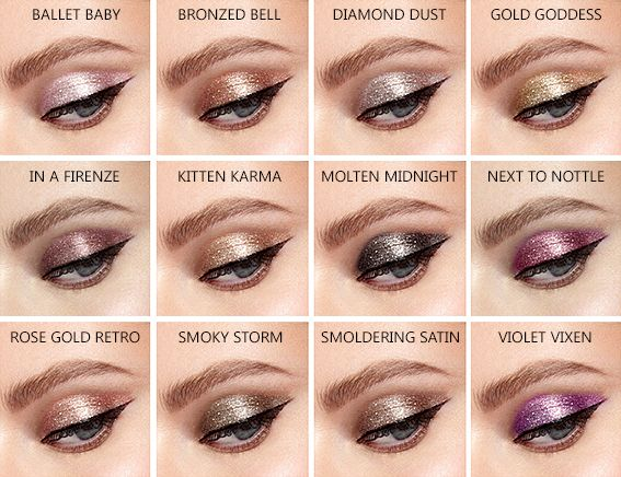 Stila Magnificent Metals Glitter Glow Liquid Eye Shadows Swatches ... ab4c0ed982f6c