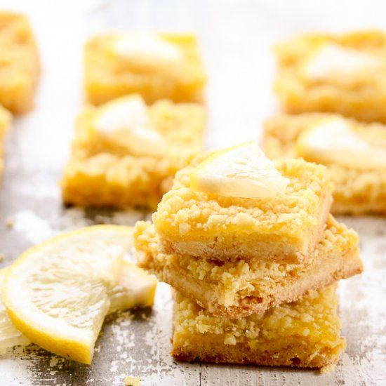 A short ingredient list makes these tangy, flavorful lemon bars the easiest ever.