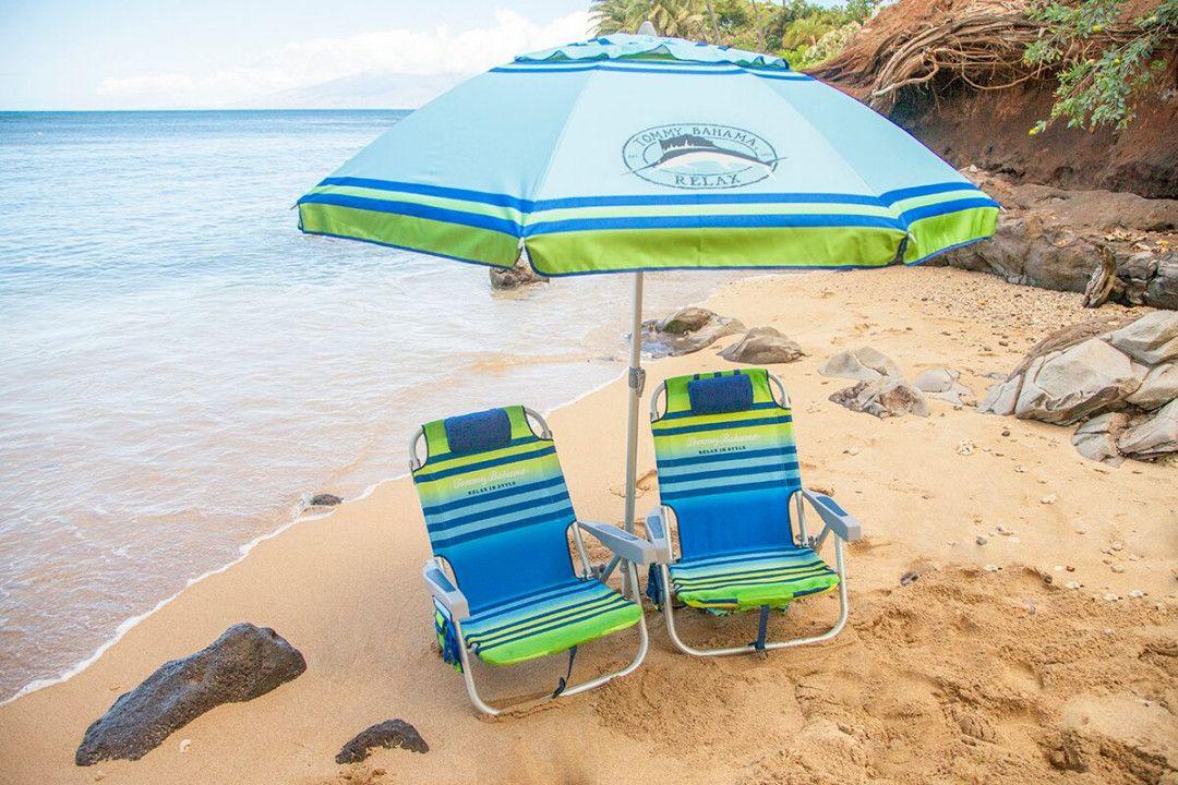 Beach chair umbrella set best way to paint furniture