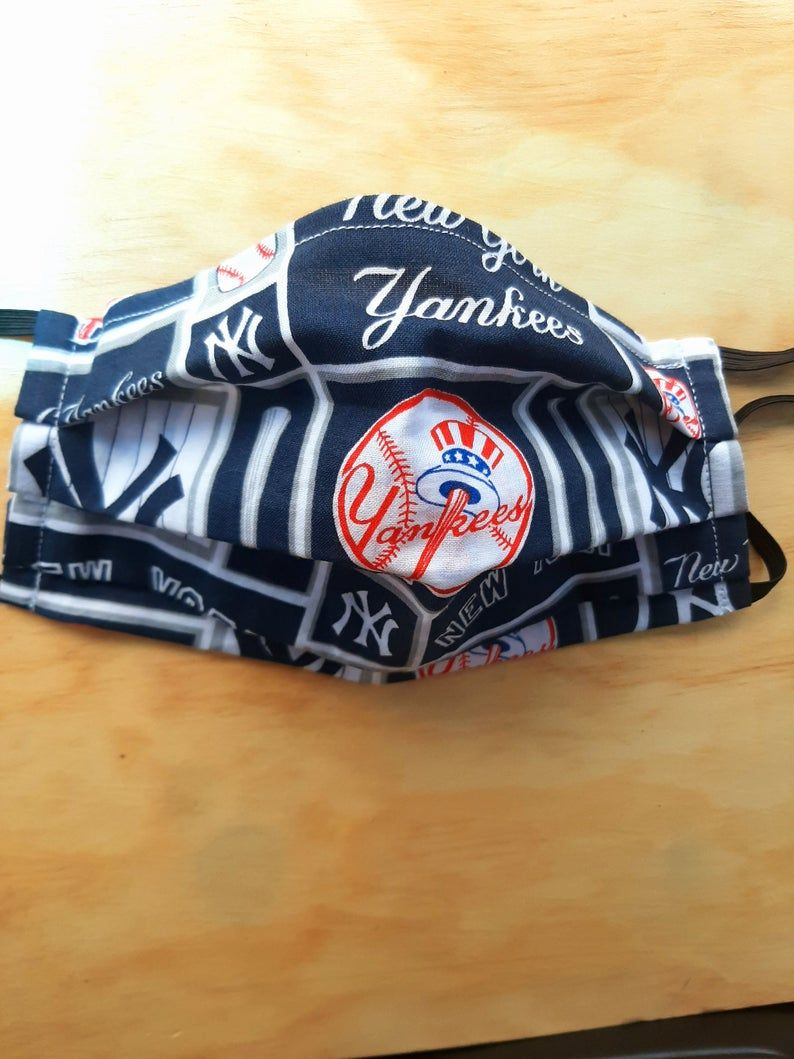 Yankees Face Mask Etsy In 2020 Face Mask Yankees Mask