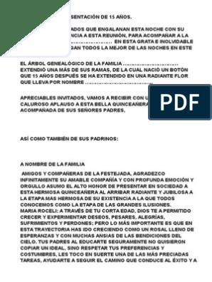 Palabras De Ceremonia Para Fiesta De 15 Años Protocolo De Quinceañera Frases Para Quinceañeras Palabras De 15 Años