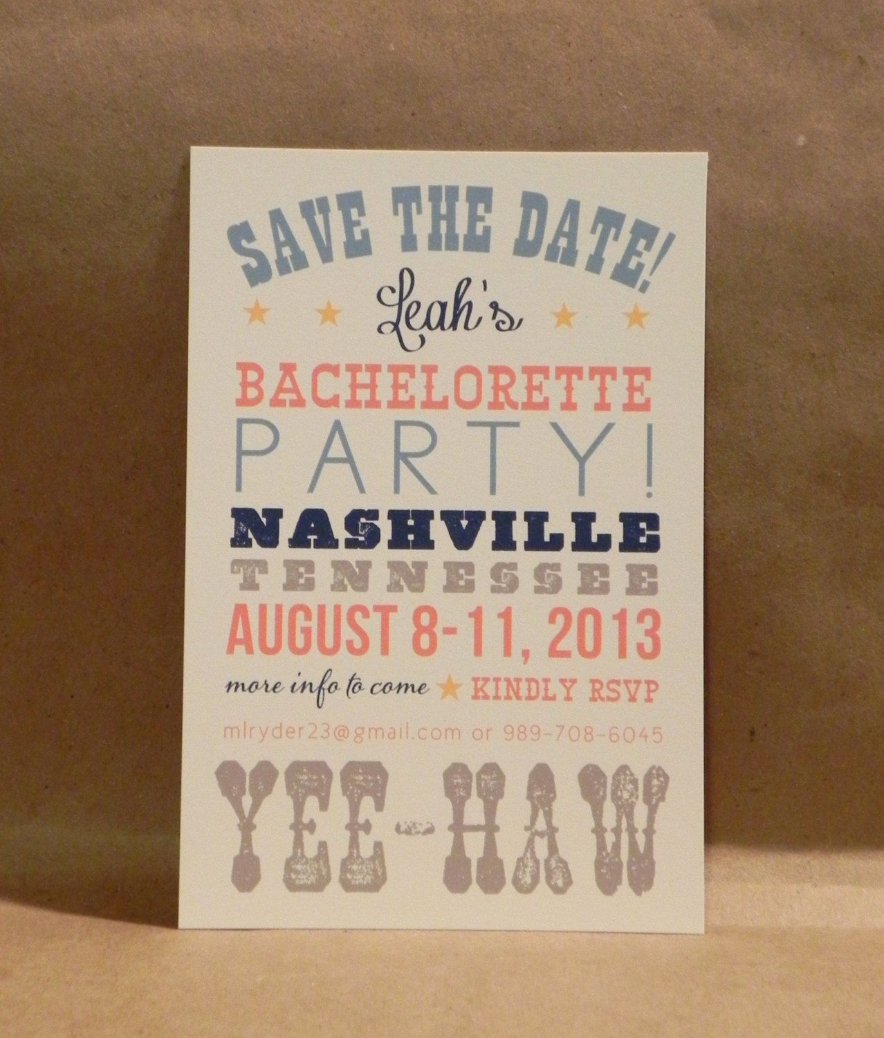 Southern Guitar Bachelorette | Girls Weekend Getaway Postcard ...