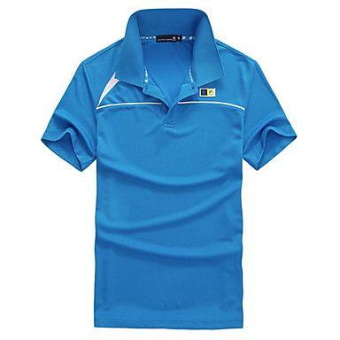 Men&'s Turndown Collar Short Sleeve T-shirt