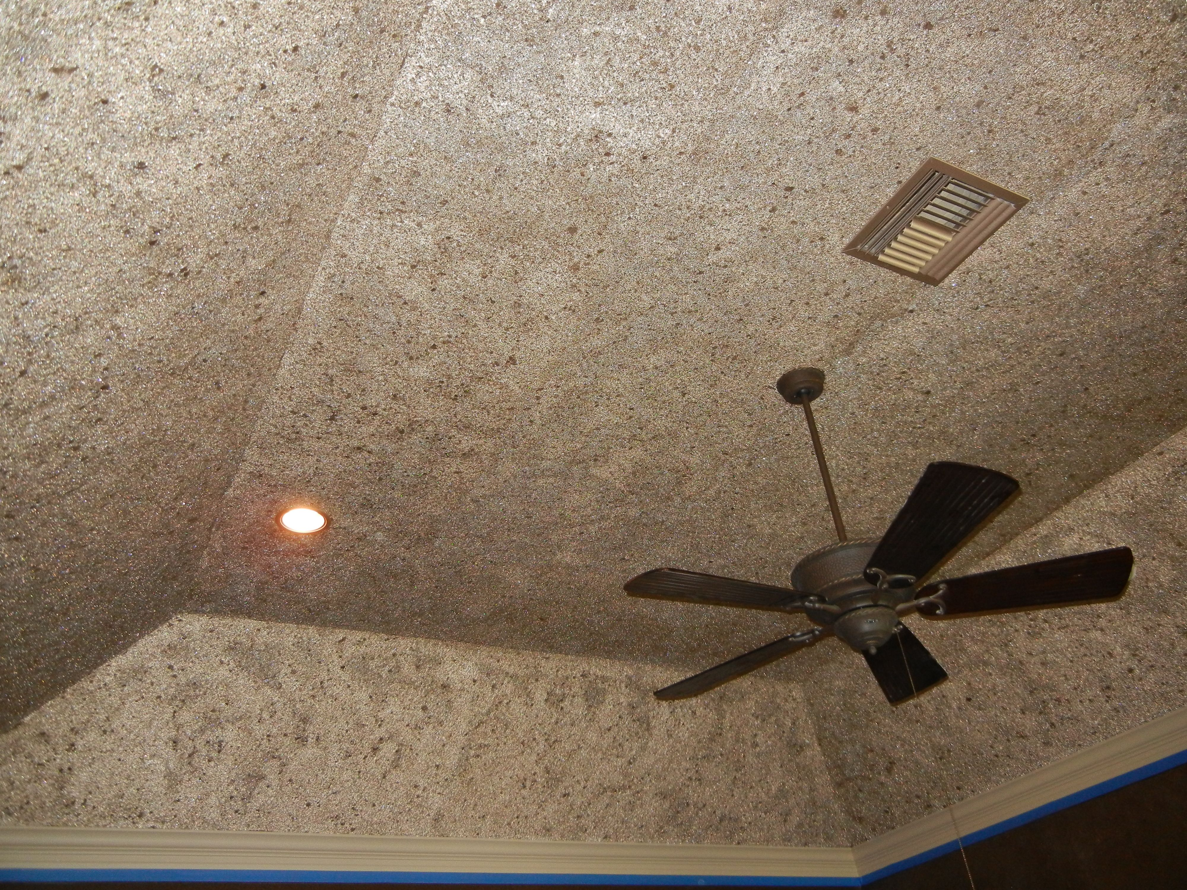 Custom Decorative Glass Bead, Glitter And Mica Flake Finish On Ceiling By  Karla Boddie Of