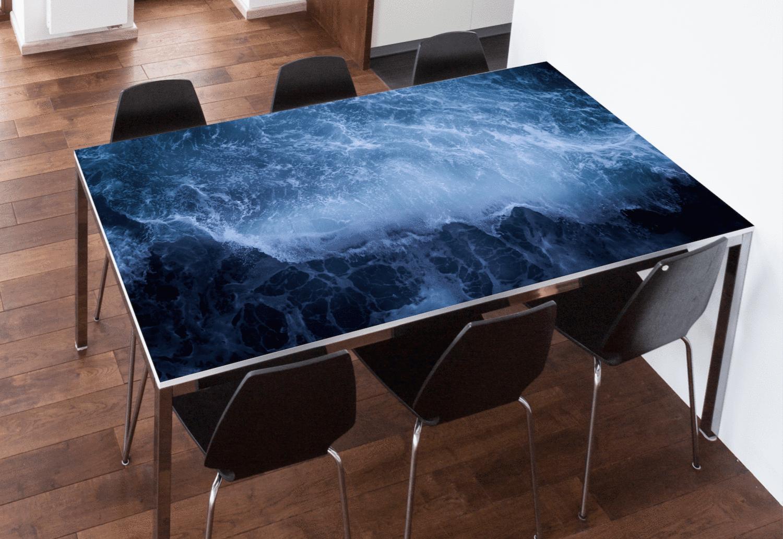 Ocean Wave Table Skin Table Wrap Table Top Table Ocean Waves