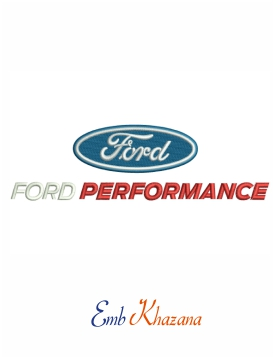 Ford Performance Logo Embroidery Design Embroidery Logo Ford Logo Embroidery Designs