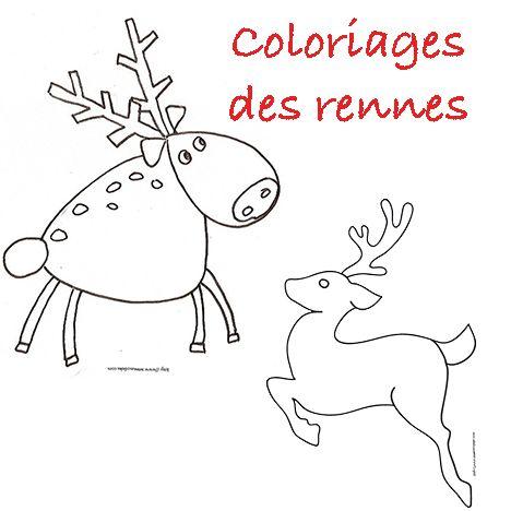 Coloriage Renne De Noel Tous Nos Dessins Coloriage Renne De Noel Noel