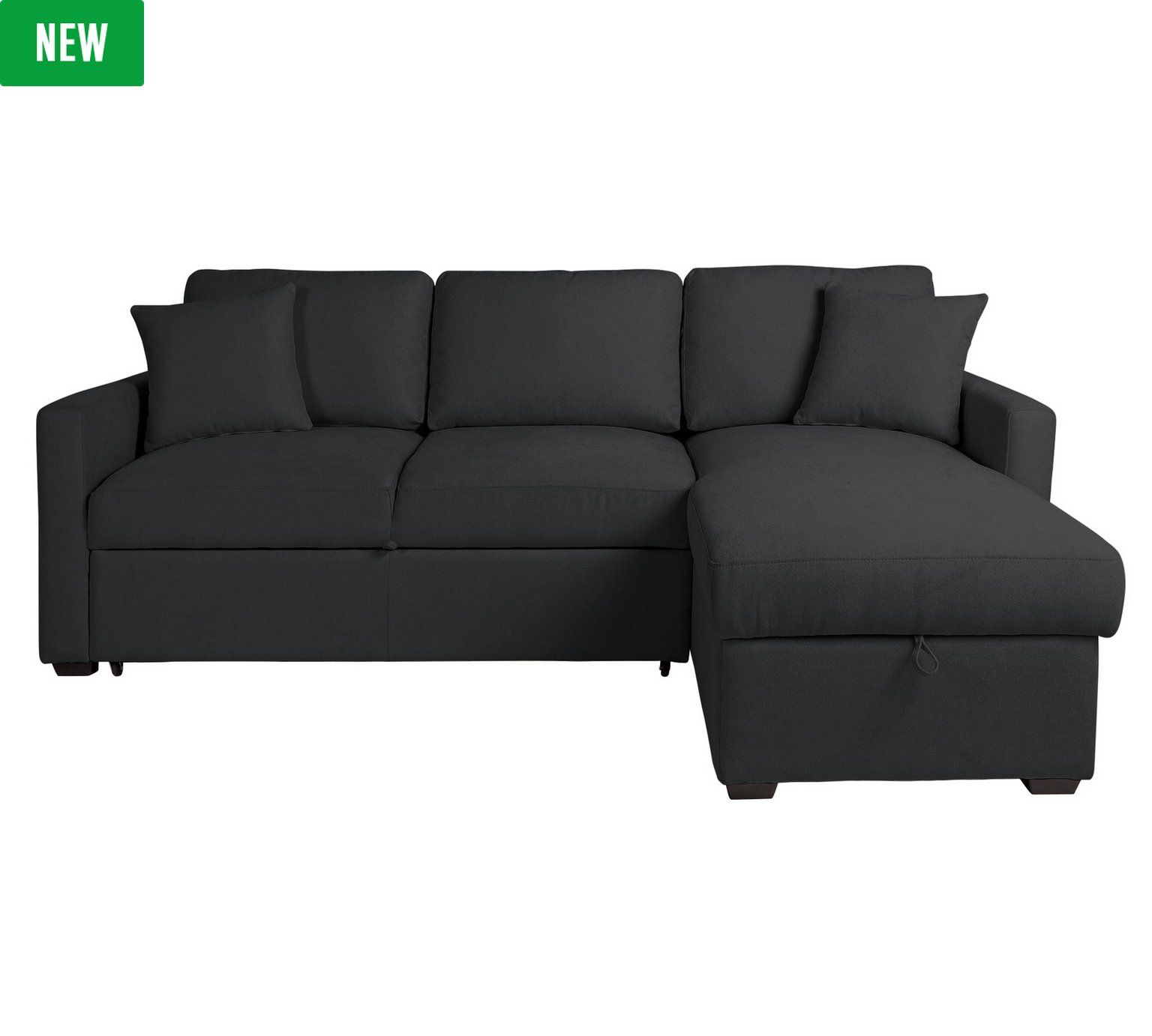 Recamiere ausziehbar  Buy HOME Reagan Fabric Right Corner Chaise Sofa Bed - Charcoal at ...