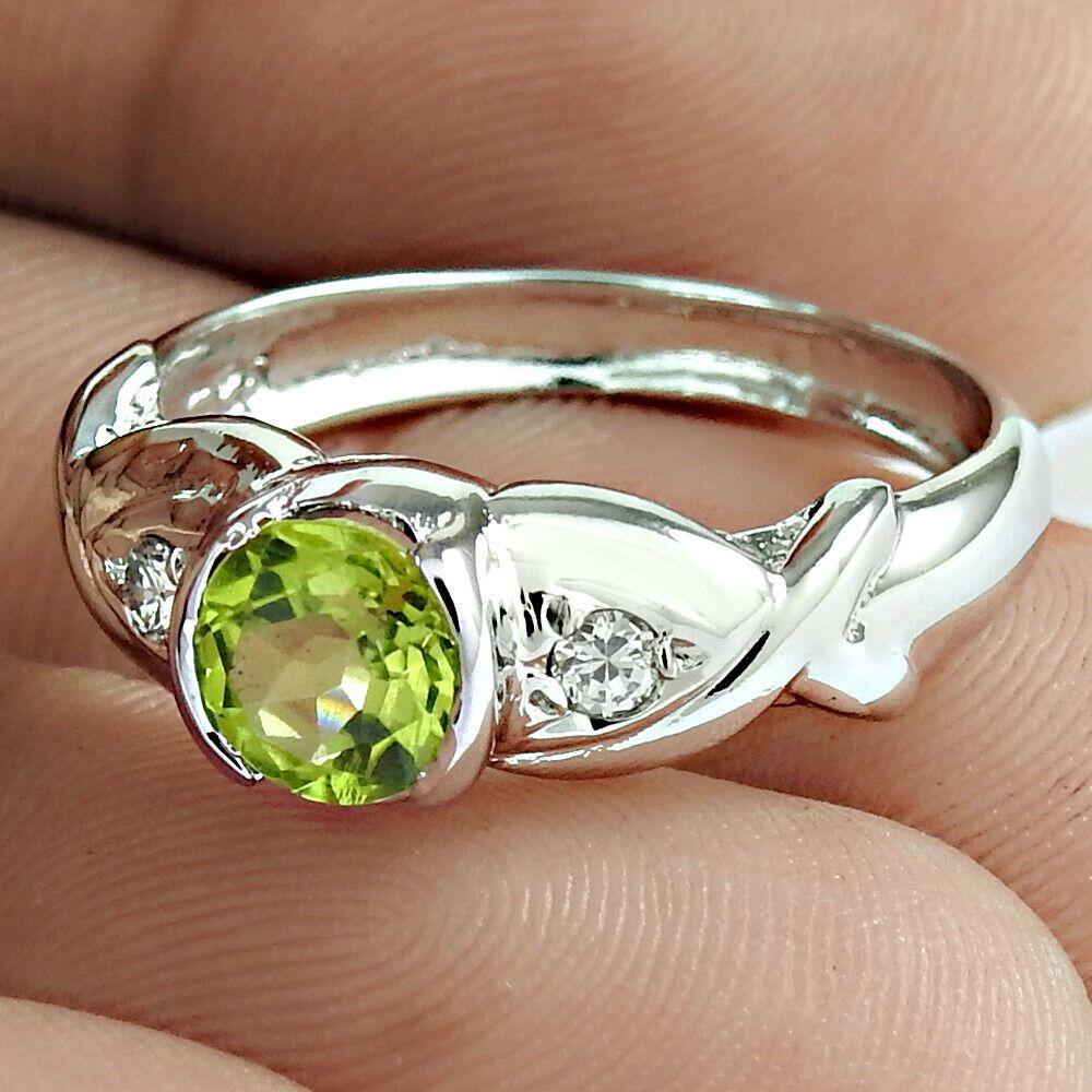 Natural Peridot Gemstones Handmade Solid 925 Sterling Silver Sunflower Rings