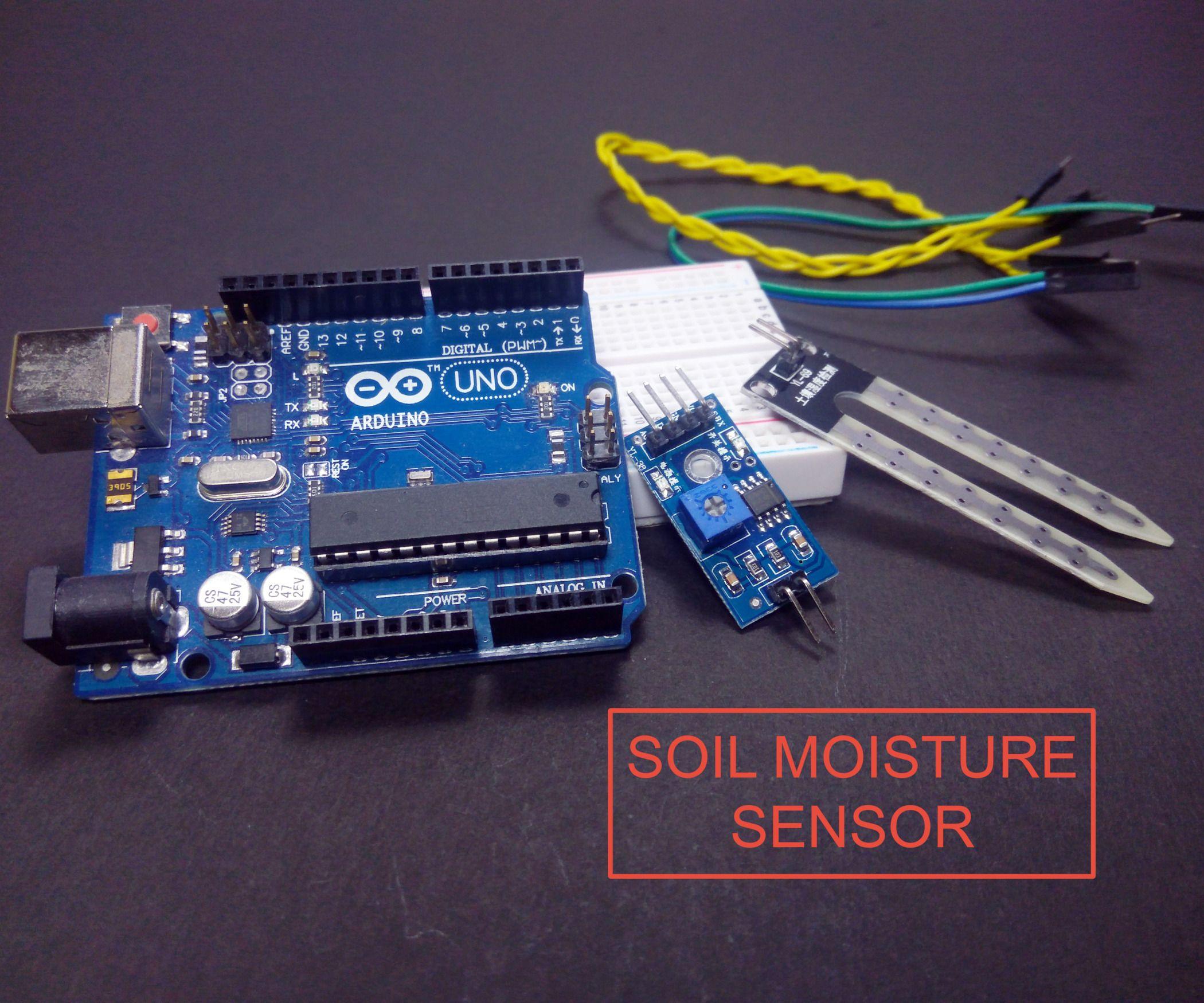 Arduino Soil Moisture Sensor With Images Arduino Sensor Moisturizer