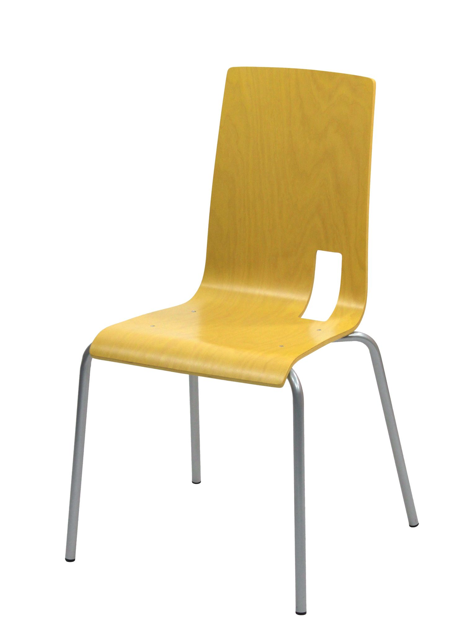 CHAISE SODA IXIA EMPILABLE COQUE JAUNE #chaise #chair