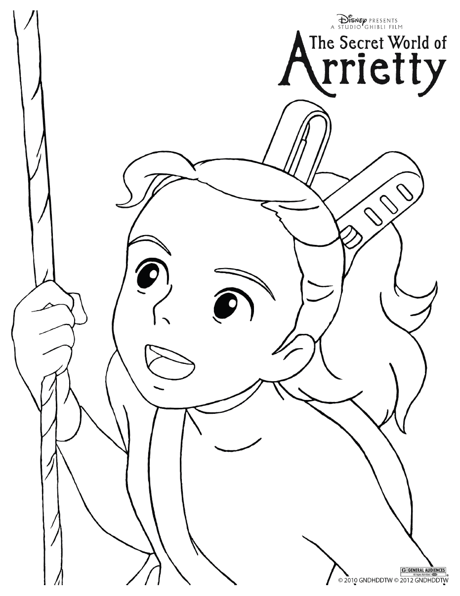 arrietty colouring page | colouring | pinterest | studio ghibli ... - Neighbor Totoro Coloring Pages
