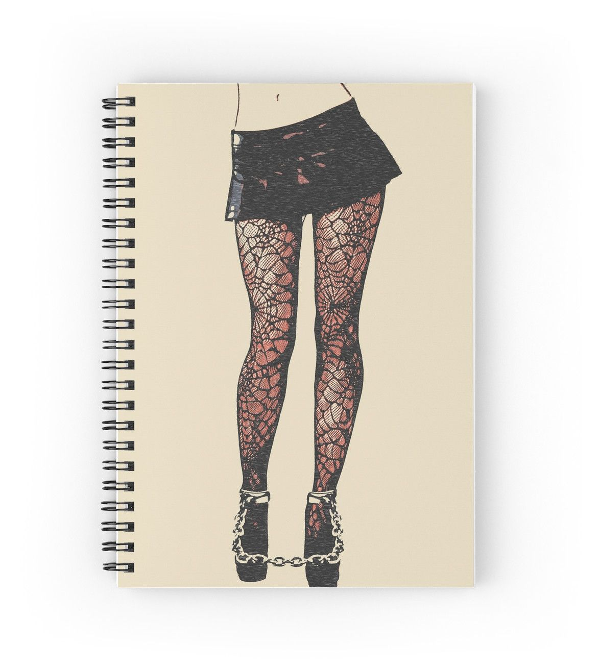 Good Girl knows what to wear, bdsm, bondage games 3\' Spiral Notebook ...