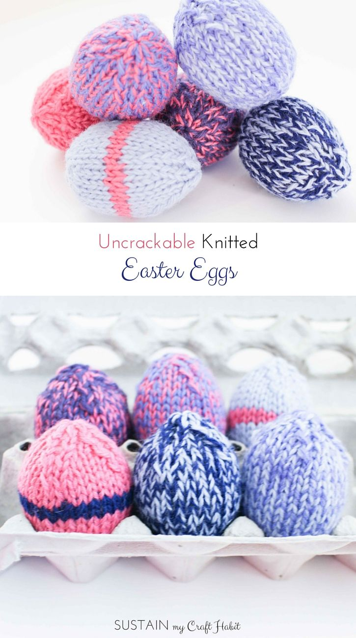 Uncrackable Knitted Easter Eggs | Knitting and more | Pinterest