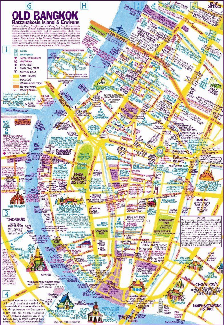 nancy chandler's map of khao san  old bangkok nd ed nima  - nancy chandler's map of khao san  old bangkok nd ed nima chandler