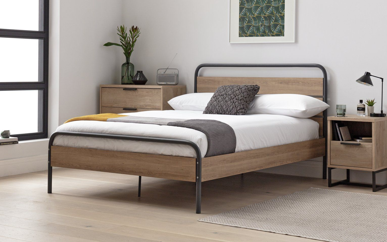 Buy Argos Home Industrial Small Double Bed Frame Grey