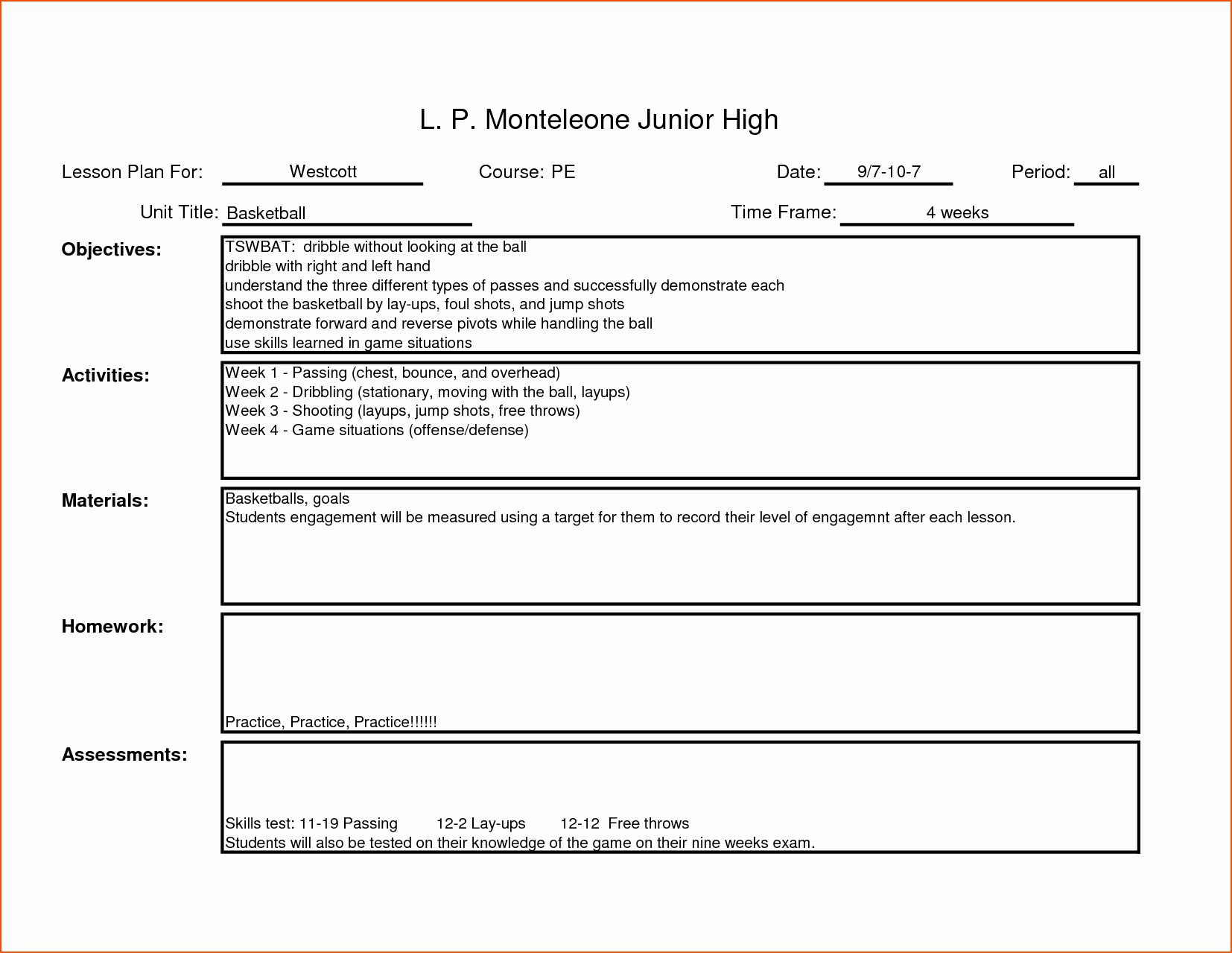 Teacher Planning Book Template Luxury 7 Teacher Lesson