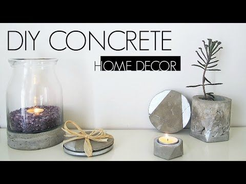 [d]here is a few home decor made from concrete, simple and modern style.[/d][d]watch the video for full explanation[/d]