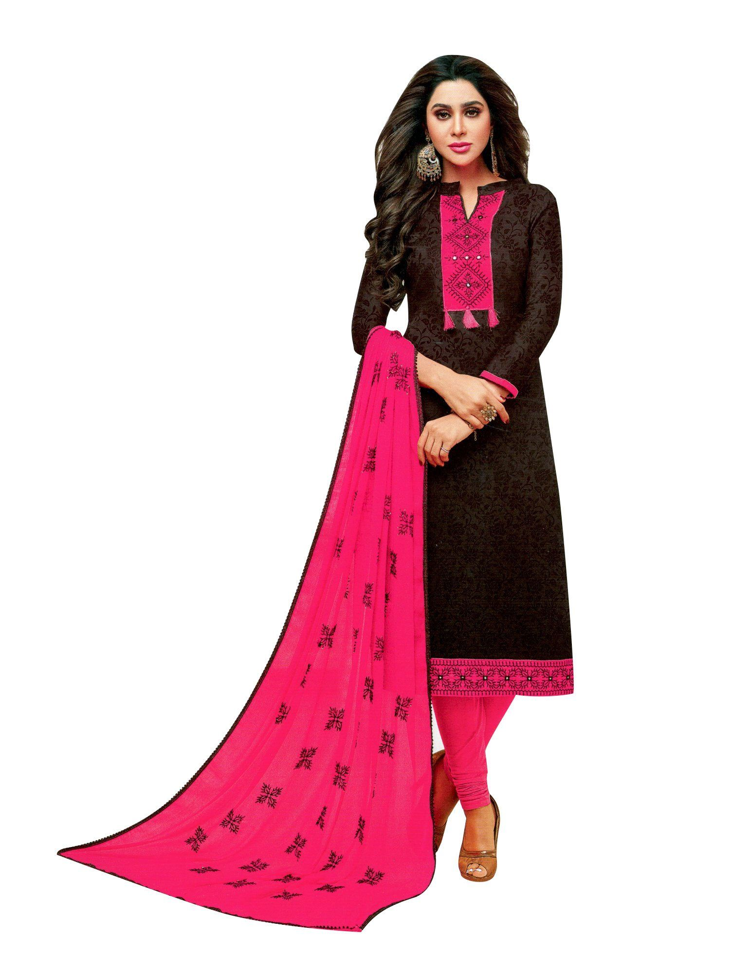 2f8b1655d4 Kameez is Cotton silk fabric plain with light sober embroidery on front and  beautiful neck patterns same as shown in the pic. Dupatta is beautiful  Rayon ...