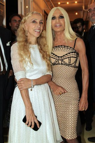 Fashion Celebrates Wool In Milan Fashion Donatella Versace