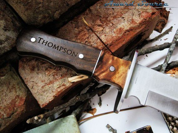 8 Bowie Knives, Groomsmen Gifts, Men Christmas Gifts, Engraved Knife
