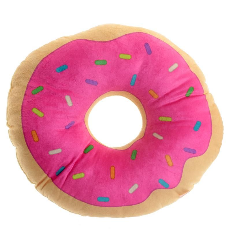 Colorful Donut Shaped Plush Pillow Food