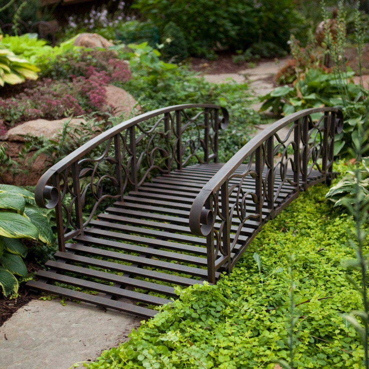 Great Metal Garden Bridge   Garden Bridges At Hayneedle