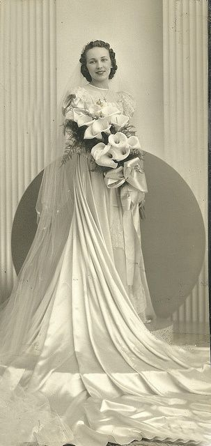 1930 1940 Bridal Portrait 1930s 1940s