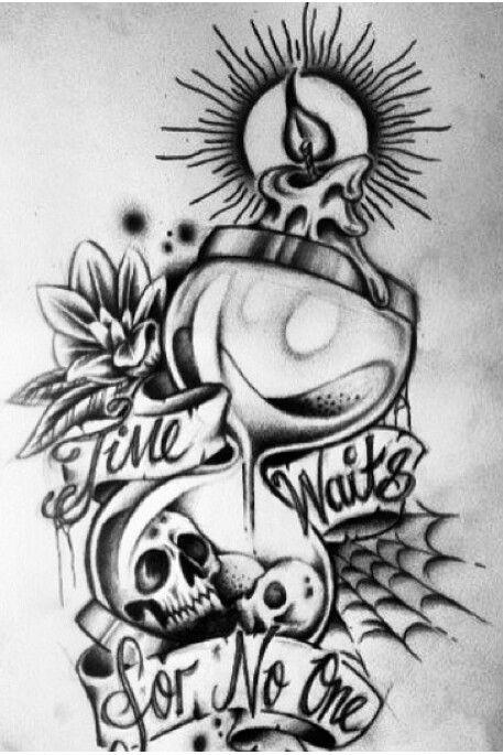 Time Waits For No One Tattoos Pinterest Tattoos Tattoo