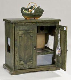 Amazing 2 Door Litter Box Cabinet