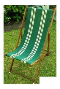 Vintage Wooden Folding Beach Chairs