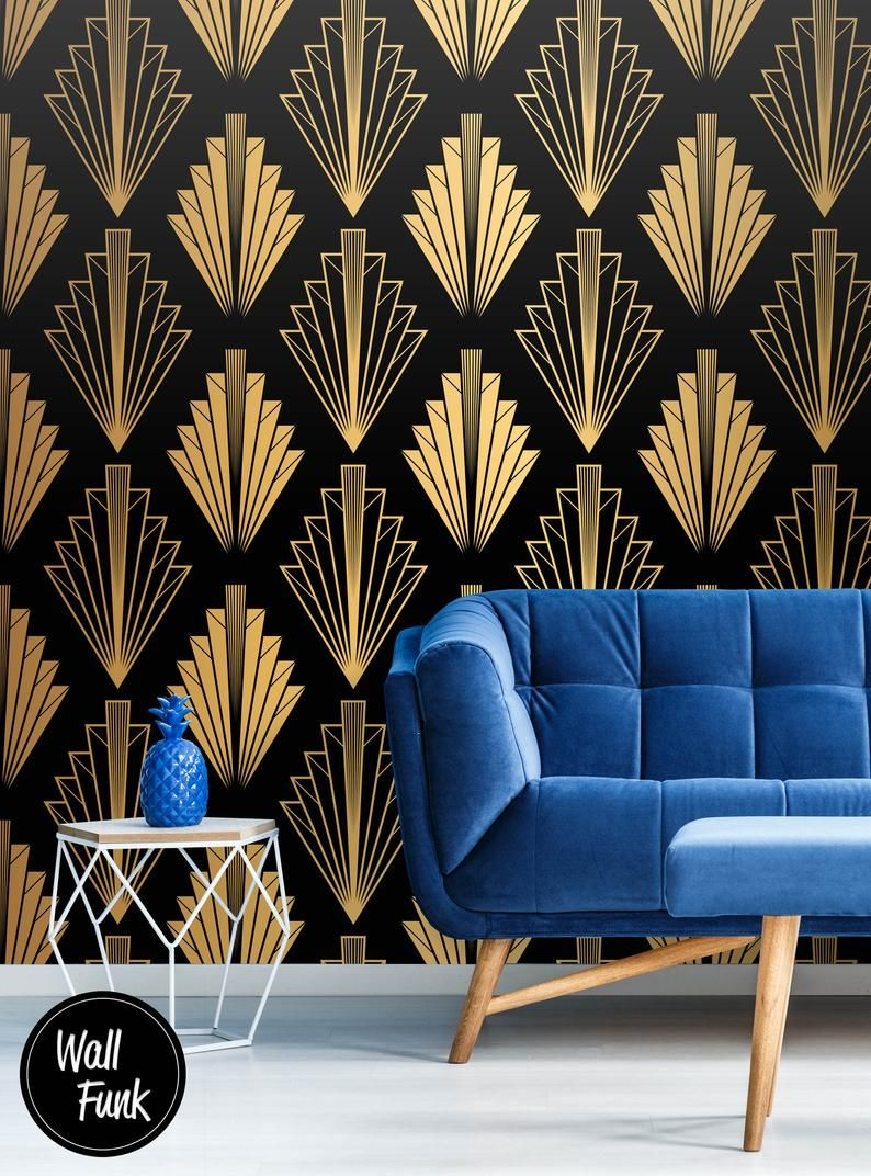 Art Deco Wallpaper Geometric Wallpaper Removable Geometric Etsy Art Deco Wallpaper Geometric Wallpaper For Walls Geometric Wallpaper