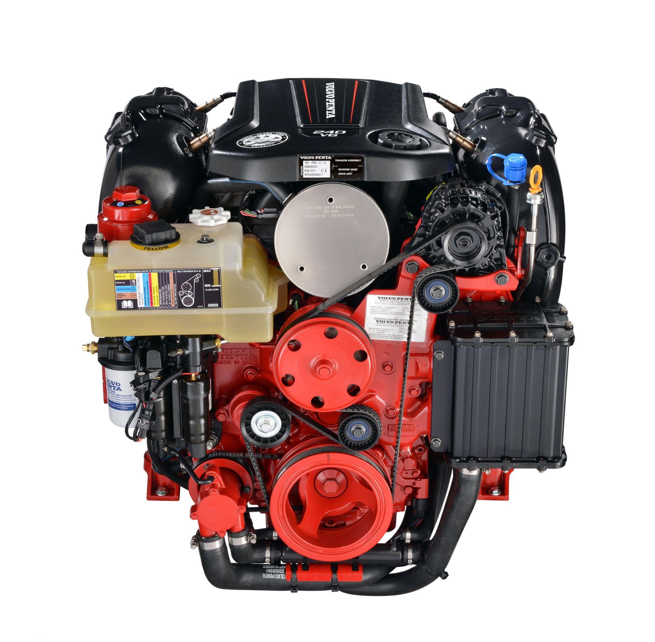 The New Volvo Penta 240 V6 Engine Volvo Sea Design Graphic Card