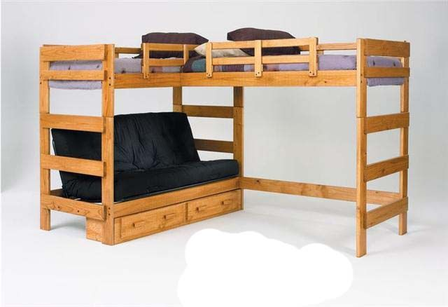 Save On Hannah Twin Over Full Futon Bunk Bed With Loft Honey