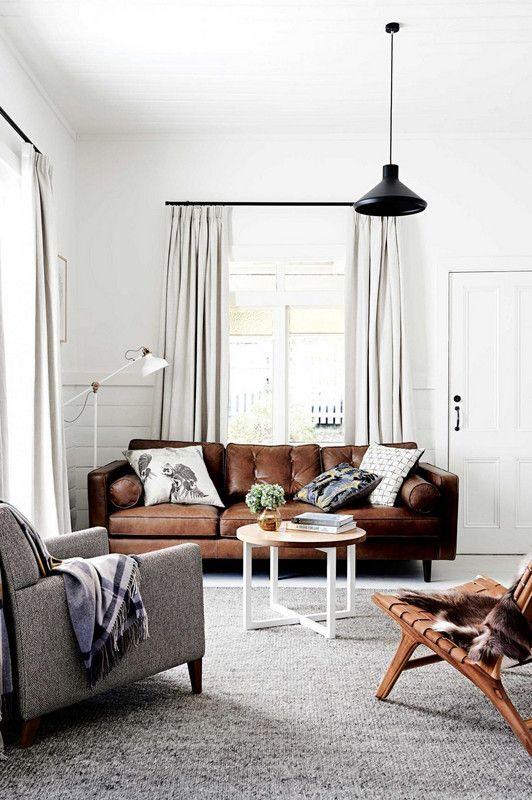 Brilliant Most Stylish Brown Leather Couches Living Room Designs Inzonedesignstudio Interior Chair Design Inzonedesignstudiocom