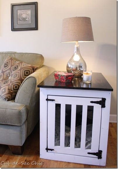 Ana White Dog Kennel End Table