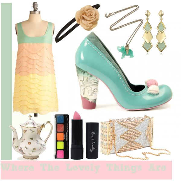 FABULOUS PASTELS!!!! Chocolate Martini, created by candyteaparty.polyvore.com...