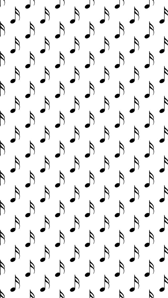 Black Musical Notes IPhone 5 Wallpaper And 6
