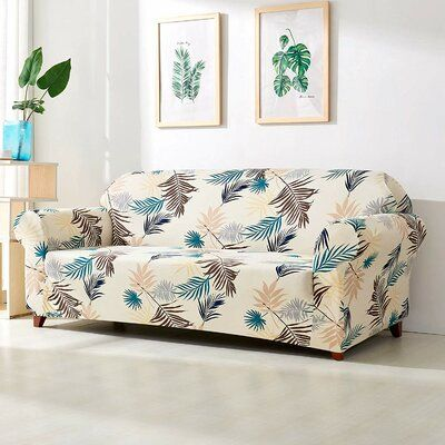 Fabulous Bayou Breeze Leaves Printed Stretch Loveseat Slipcover In Unemploymentrelief Wooden Chair Designs For Living Room Unemploymentrelieforg